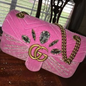 Gucci Medium Crystal Pink Marmont